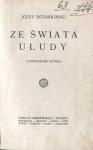 Kotarbiński Józef - Ze świata ułudy. Z portretem autora.
