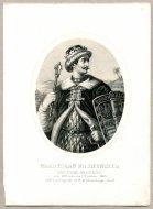 Władysław Warneńczyk - Król Polski i Węgierski - litografia. [Rys. Aleksander Lesser. Litografował H.Aschenbrenner]