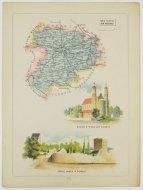 Bazewicz J. M. - Powiat łęczycki guberni kaliskiej - mapa 1907.