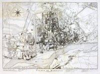 [WARSZAWA]. Pianta di Warsavia. Miedzioryt form. 23,8x34,9 cm