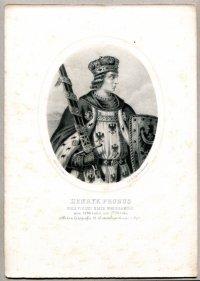 Michał Probus - Król Polski Xiąże Wrocławski - litografia. [Rys. Aleksander Lesser. Litografował H.Aschenbrenner]