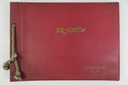 Album do referatu Kraków sporządzony przez ucznia klasy X Herberta Szwarca 1960 r.
