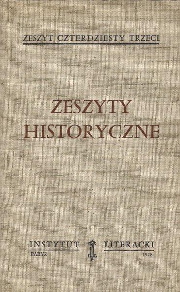 Zeszyty Historyczne. Z. 43.