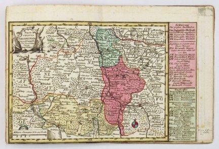 [ŚLĄSK]. Lotter Tobias. [Zbiór 9 map księstw Śląskich]. Miedzioryty kolorowane fok. 1774