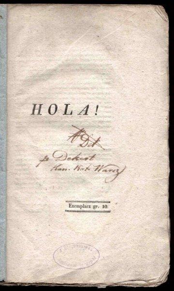 Dekert Jan - Hola! 1831