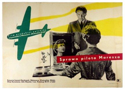 Henryk Tomaszewski - Sprawa pilota Maresza - plakat filmowy [1956]