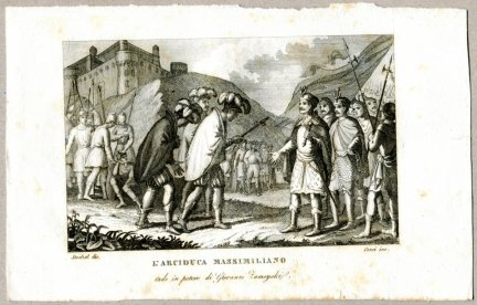 L'Arciduca Massimiliano - miedzioryt 1831