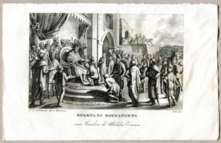 Boleslao Boccatorta - miedzioryt 1831