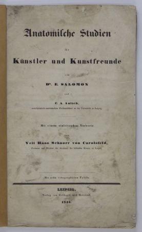 Salomon E. - Anatomische Studien fur Kunstler und Kunstfreude. Mit einem einleitenden Vorvorte von Veit Hans Schnorr von Carolsfeld