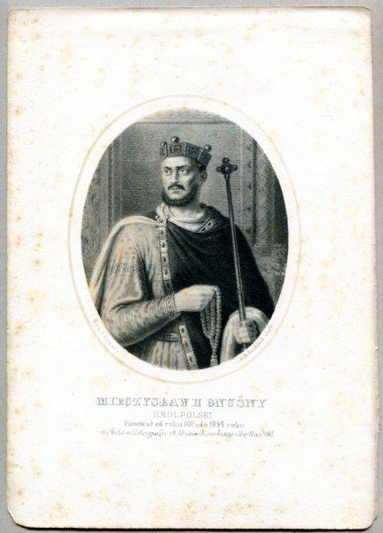 Mieczysław II Gnuśny - Król Polski - litografia. [Rys. Aleksander Lesser. Litografował H.Aschenbrenner]
