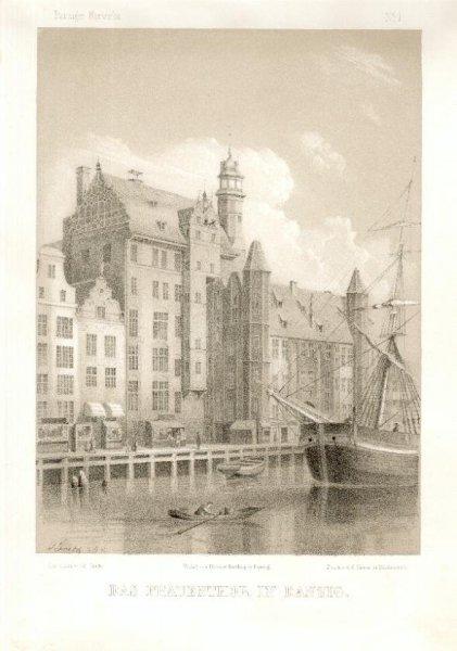 [GDAŃSK]. Das Frauenthor in Danzig. Litografia na tincie 23,7x17,1 cm.