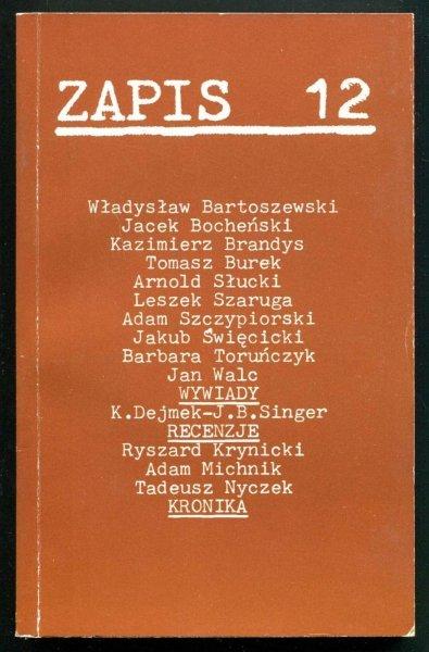 Zapis: poezja, proza, eseje, kronika. [R. 3], nr 12: X 1979.