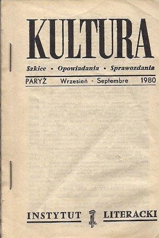 Kultura. Szkice, opowiadania, sprawozdania. [Nr 9 (396): IX 1980.