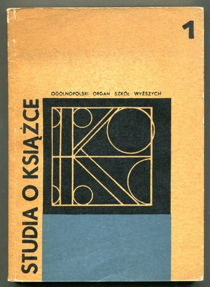 Studia o Książce. [T.] 1: 1970.