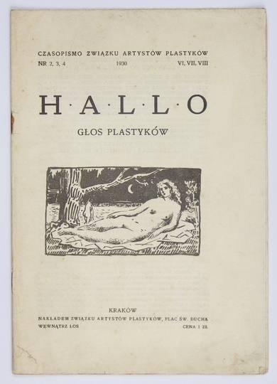 HALLO. Głos Plastyków. Nr 2/4: VI-VIII 1930