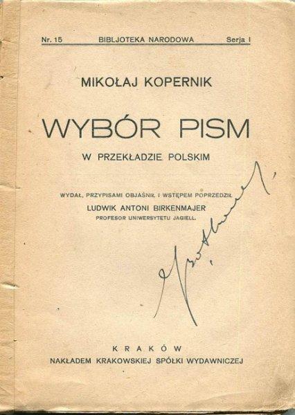 Kopernik Mikołaj - Wybór pism.