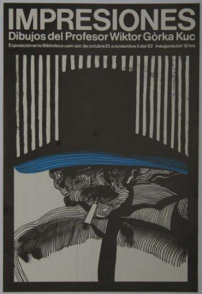 IMPRESIONES.  Dibujos del Profesor Wiktor Górka Kuc. Exposición en la Biblioteca uam azc