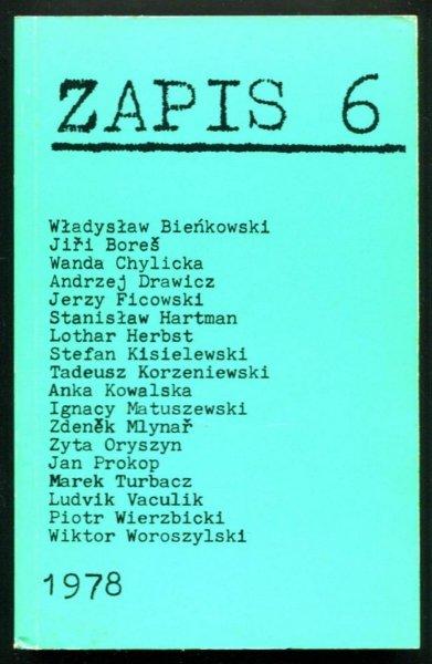 Zapis: poezja, proza, eseje, kronika. [R. 2], nr 6: IV 1978.
