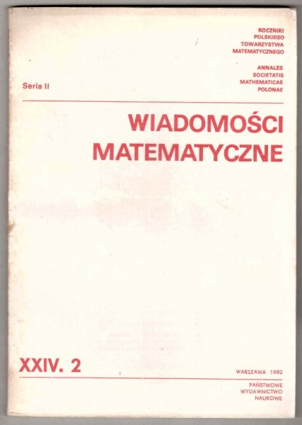 Wiadomości Matematyczne. T.24, cz.2