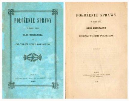 Położenie sprawy w roku 1846. Głos emigranta do członków Sejmu Polskiego.