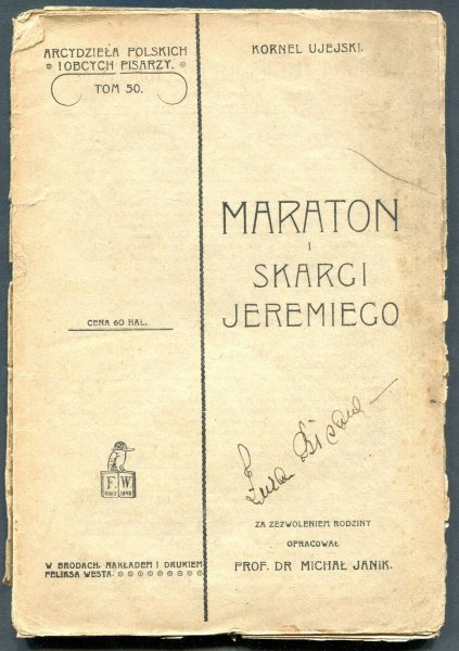 Ujejski Kornel - Maraton i Skargi Jeremiego. Oprac. M.Janik.