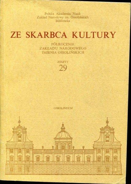 Ze Skarbca Kultury. Zesz. 29. 1977.