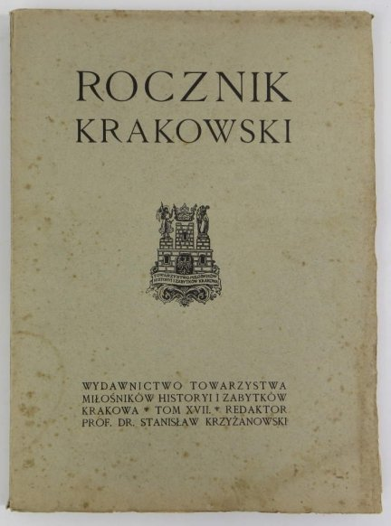 Rocznik Krakowski. Pod red. Stanisława Krzyżanowskiego. T.17
