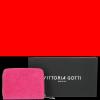Portfel Skórzany VITTORIA GOTTI Made in Italy Fuksja