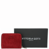 Portfel Skórzany VITTORIA GOTTI Made in Italy Bordowy
