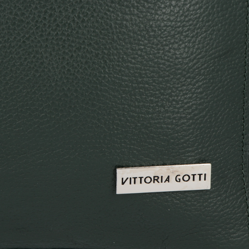Torebka Skórzana VITTORIA GOTTI Made in Italy Butelkowa Zieleń