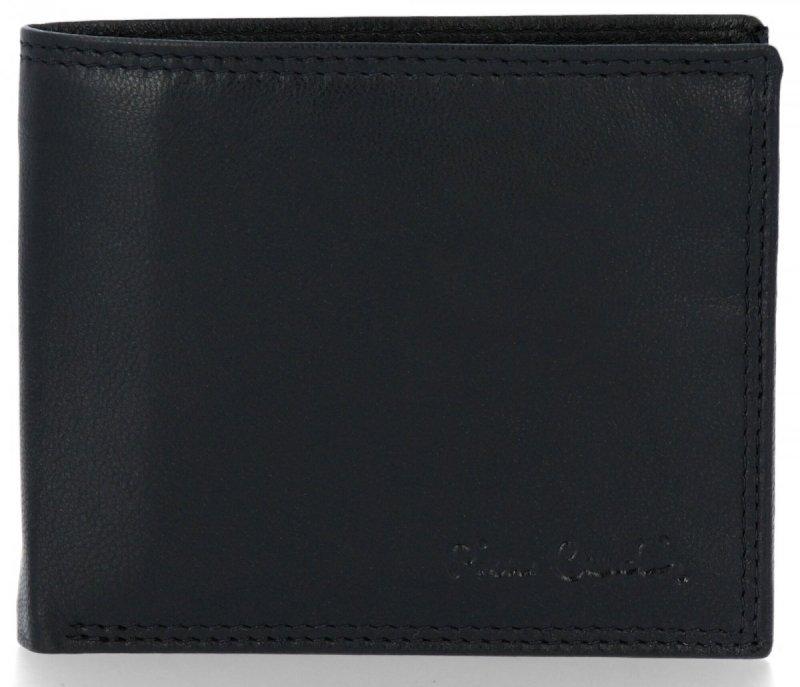 Klasyczny Skórzany Portfel Męski firmy PIERRE CARDIN Czarny