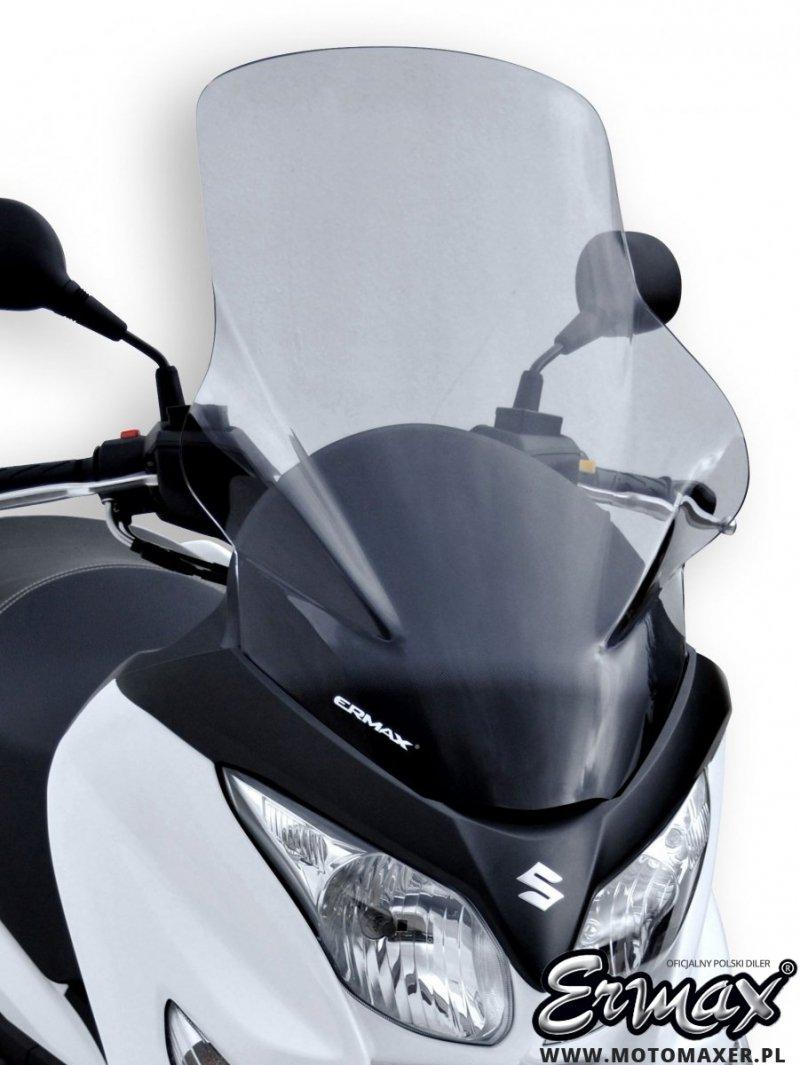 Szyba ERMAX SCOOTER HIGH z osłonami na ręce 70 cm Suzuki Burgman 125 / 200 2007 - 2021