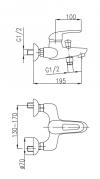 ARMATURA KRAKÓW bateria wannowa ATRIA 4604-020-00