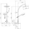 ARMATURA KRAKÓW - Zestaw natryskowy deszczownia SOLARIS + BATERIA DIAMENT 4106-910-00