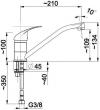 ARMATURA KRAKÓW - Bateria jednouchwytowa zlewozmywakowa / kuchenna stojąca JASPIS 543-915-00