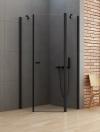 NEW TRENDY Kabina prysznicowa pięciokątna NEW SOLEO BLACK 90x90x195 K-0613