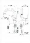 ARMATURA KRAKÓW - CYRKON bateria umywalkowa 583-715-00