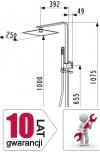 ARMATURA KRAKÓW - deszczownia CASSINI do kompletacji z dowolną baterią 841-195-00