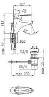 ARMATURA KRAKÓW - Bateria umywalkowa INES 4502-825-00