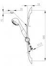 ARMATURA KRAKÓW - Zestaw natryskowy przesuwny CALIPSO 841-170-00