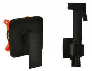 BW-TECH - Bateria bidetowa podtynkowa TAURIS czarna mat black z boxem