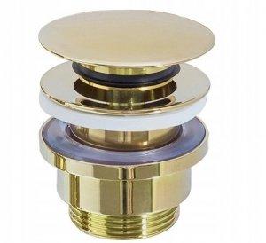 REA - korek umywalkowy uniwersalny klik-klak Rea L.Gold/złoty