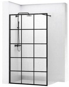 REA - Ścianka prysznicowa BLER-1 black/czarna Rozmiary 100