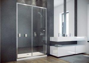 BESCO - Drzwi prysznicowe podwójne przesuwne SLIDE DUO 195 RÓŻNE ROZMIARY