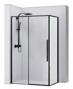 REA - Kabina prysznicowa prostokątna SOLAR BLACK 90x120