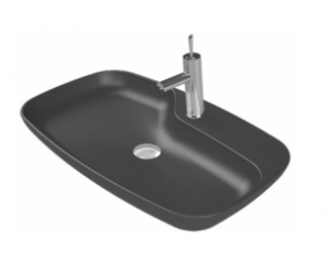 CeraStyle Umywalka ceramiczna NOVA ANTRACYT MAT 70cm