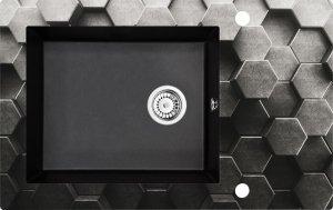 DEANTE Zlewozmywak ANDANTE szklano-granitowy 1-komorowy z ociekaczem ZSN GL1C
