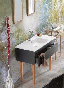 CERASTYLE Umywalka ceramiczna IBIZA 80cm