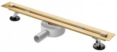 AQUALine Odpływ liniowy podłogowy złoty/gold SUPER SLIM INVISIBLE 90cm RSP01GL NOWOŚĆ