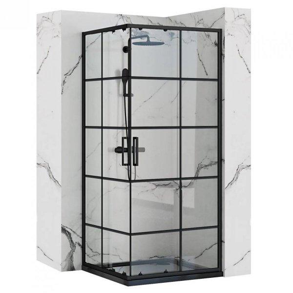 REA - Kabina prysznicowa CONCEPT Black 80x100